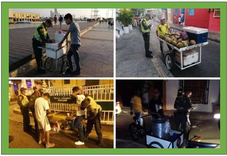 80 COMPARENDOS INOCUOS DE LA POLICÍA A VENDEDORES