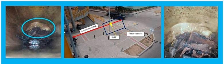ACUACAR REPARA COLECTOR DESTRUIDO EN CONSTRUCCIÓN DE VIADUCTO