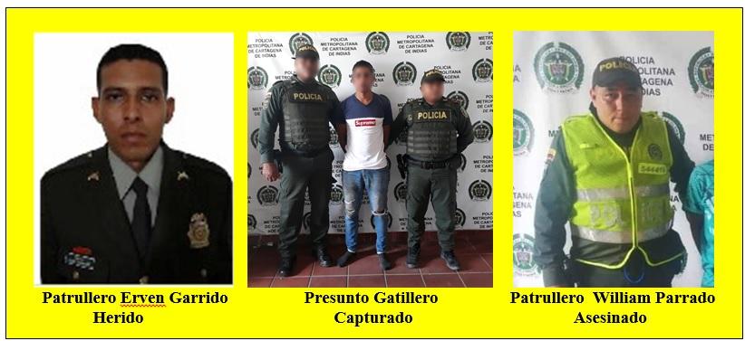 ATAQUE A POLICÍAS EN TURBACO Y CAPTURA DE  RESPONSABLES