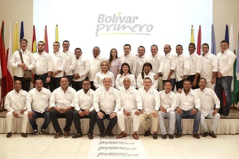 BOLÍVAR PRIMERO EN EQUIPO CON LOS ALCALDES DEL DEPARTAMENTO