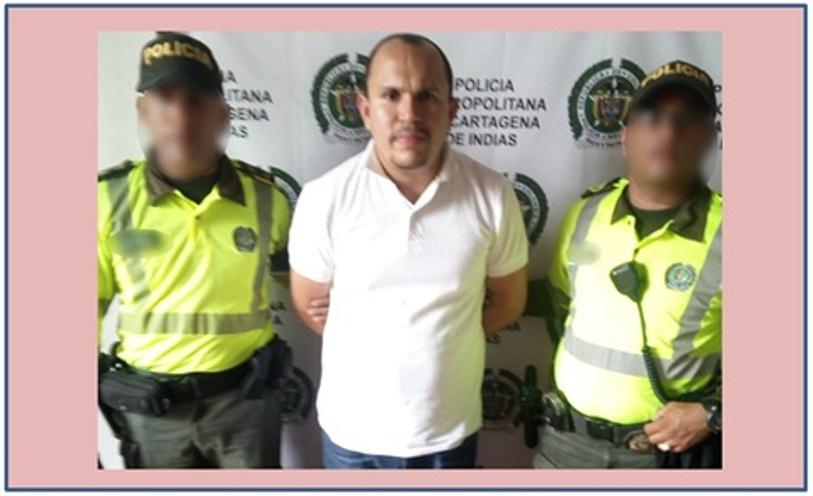 """CAPTURADO EL PELIGROSO DELINCUENTE """"GORDO LINDO""""  ENTRANDO A CARTAGENA"""