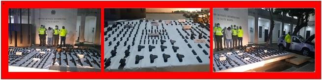 CAPTURADO EN CARRETERA CON 26 FUSILES Y OTRAS ARMAS