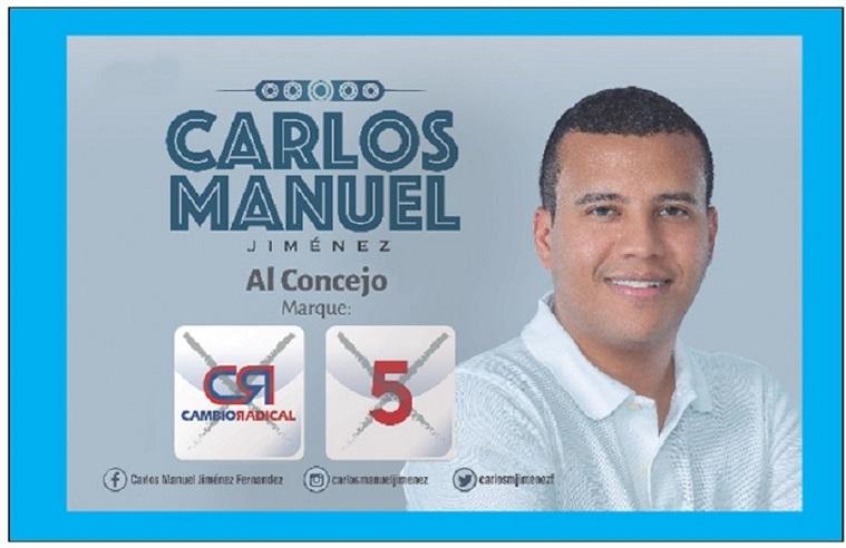 CARLOS MANUEL JIMENEZ TRABAJARÁ POR 4 TEMAS BASICOS EN EL CONCEJO