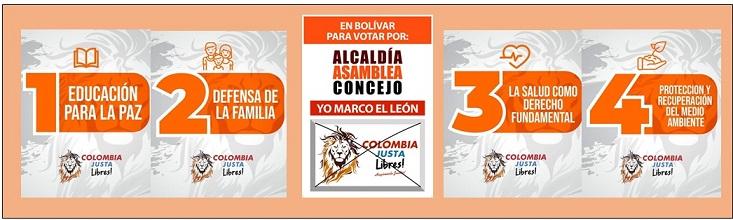 COLOMBIA JUSTA LIBRES ELEGIRÍA 12 ALCALDÍAS, 2 DIPUTADOS Y 42 CONCEJALES