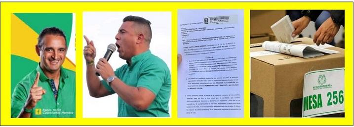 DENUNCIA POR FRAUDE ELECTORAL CONTRA CANDIDATO DE ALIANZA VERDE