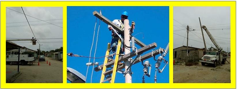 ELECTRICARIBE INSTALA HOY NUEVOS POSTES EN TIERRA BOMBA
