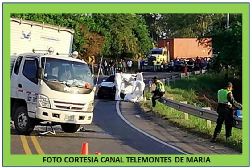 FATAL IMPRUDENCIA EN CARRETERA TRONCAL DE OCCIDENTE
