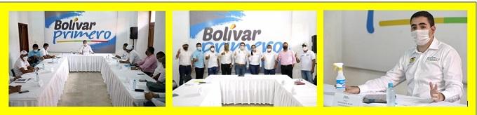 GOBERNADOR Y ALCALDES REVISAN PROYECTOS DE DESARROLLO DEL SUR DE BOLÍVAR