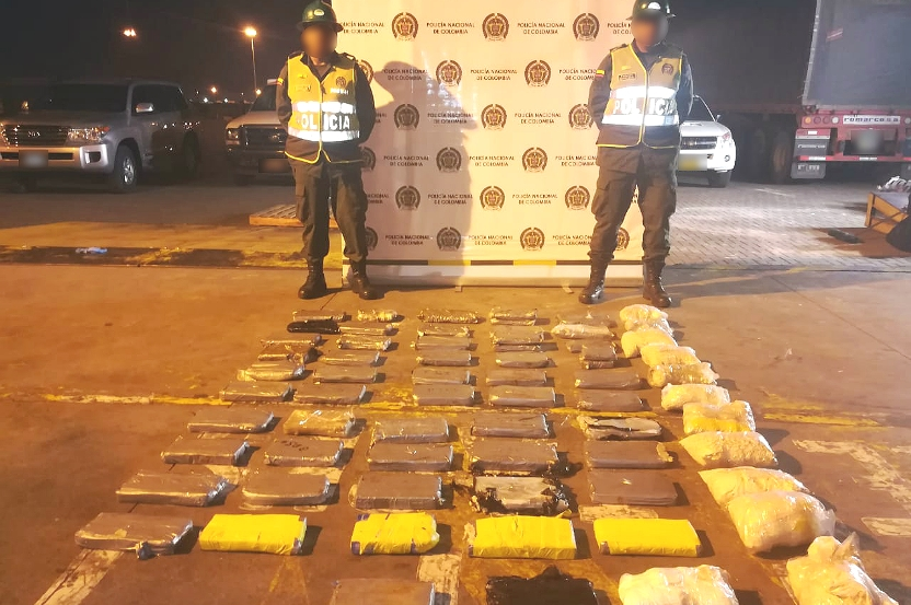 GOLPE A NARCOTRAFICANTES, INCAUTADOS 69 KILOS DE COCAINA ENTRANDO AL PUERTO