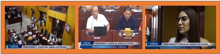 IRRESPETUOSA ACTITUD DE ANGELICA HOGDE CONTRA EL PERSONERO