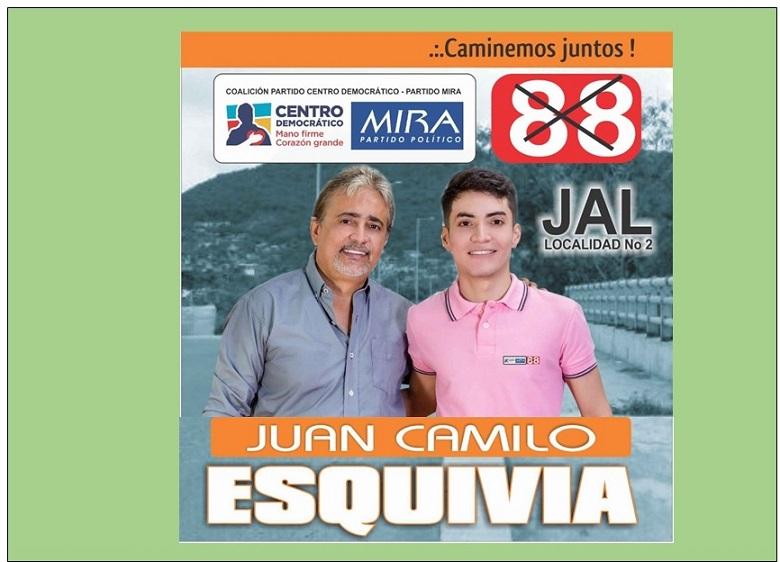JUAN CAMILO ESQUIVIA SE FORTALECE EN LA LOCALIDAD 2