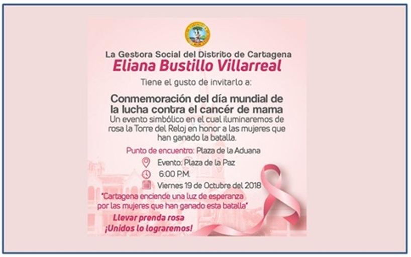 LA TORRE DEL RELOJ SE VISTE  ROSA HOY,  EN CONMEMORACIÓN AL DIA DEL CANCER DE CANCER DE MAMA