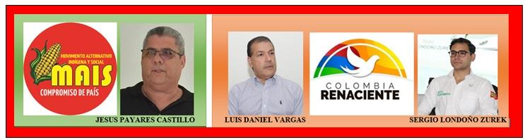 NUEVOS AVALES CALIENTAN CAMPAÑAS, LONDOÑO, LUIS DANIEL Y PAYARES CON LO SUYO