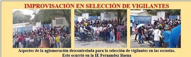 PERSECUCIÓN Y REPRESIÓN LABORAL EN SELECCIÓN DE VIGILANTES PARA ESCUELAS