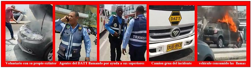 POLEMICA POR VEHÍCULO INCENDIADO DURANTE REMOLQUE DEL DATT
