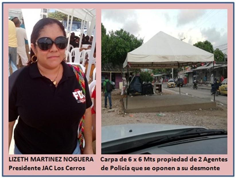 POLICIAS PROMUEVEN INVASION DEL ESPACIO PUBLICO EN LOS CERROS