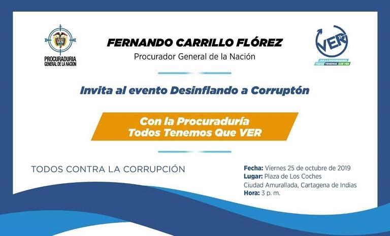 PROCURADOR CARRILLO DESINFLARÁ LA CORRUPCIÓN EN CARTAGENA