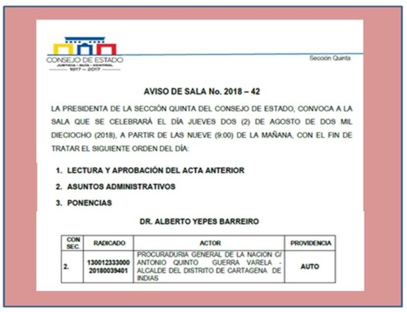 QUINTO GUERRA EN AGENDA DEL CONSEJO DE ESTADO HOY