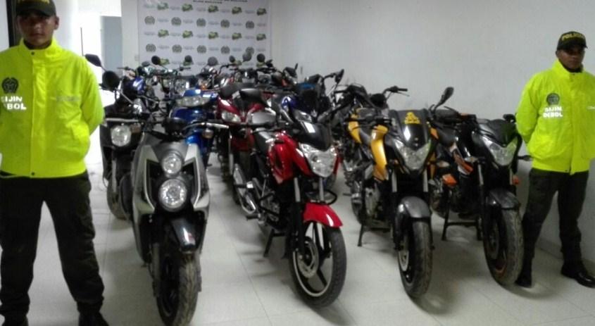 RECUPERADAS 17 MOTOCICLETAS ROBADAS EN MUNICIPIOS DE BOLIVAR