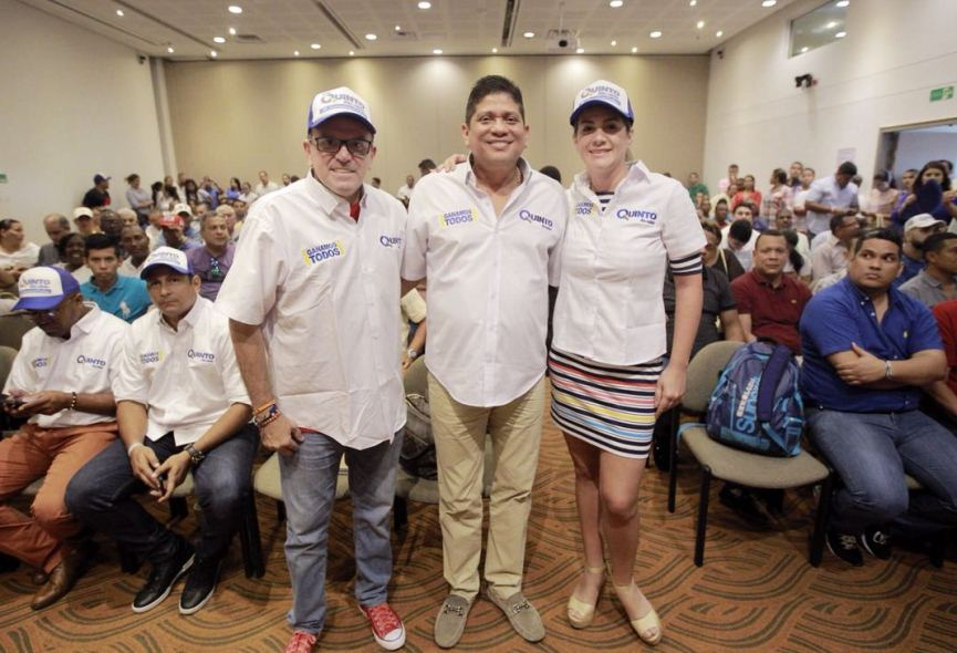 RODEADO DE CONGRESISTAS, QUINTO SE FORTALECE GARCIA, PADAGUI Y CURE SE SUMARON A LIDIO