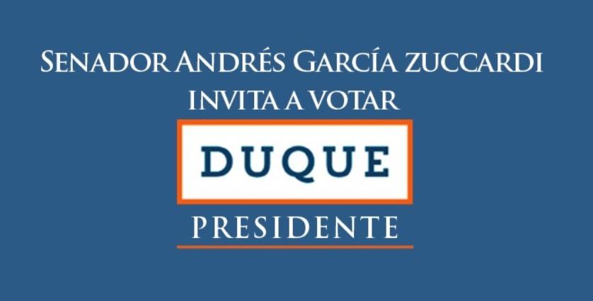 SENADOR GARCIA ZUCCARDI CON IVAN  DUQUE