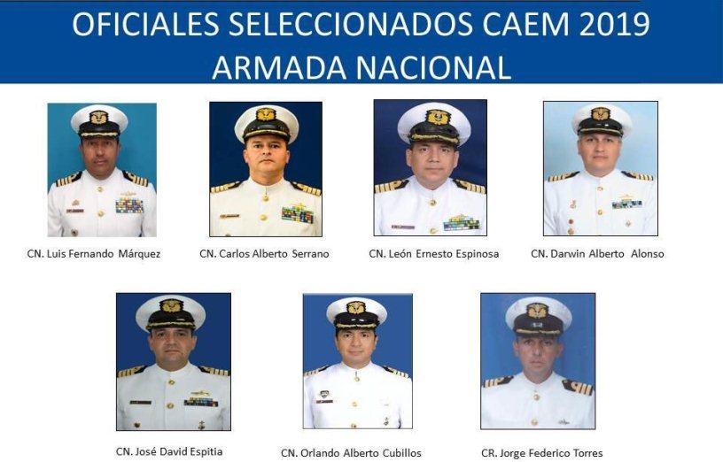 SIETE OFICIALES DE LA ARMADA LLAMADOS A CURSO DE ALTOS ESTUDIOS MILITARES
