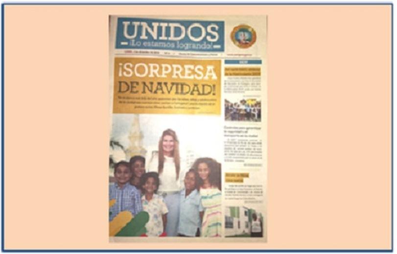 """""""UNIDOS LO ESTAMOS LOGRANDO"""", NUEVA PUBLICACIÓN OFICIAL DE LA ALCALDIA"""